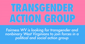 A photo promoting the Transgender Action Group