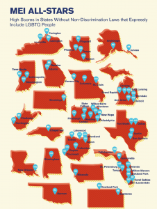"""A graphic that includes a list of cities who received the status of """"All Stars"""" in 2020."""